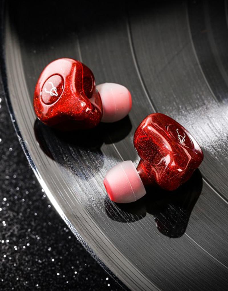 True Wireless Headphones Earphones Sabbat E12 NeoN Red 4
